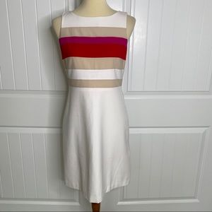 WHBM colorblock sheath dress size 4